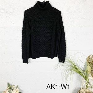 Vince Cable Knit Turtleneck Wool Sweater